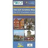 EuroVelo MAP  ECF The european cycle route network /  Das europäische Fahrradnetzwerk: 12 EuroVelo-Routen. 1:4000000