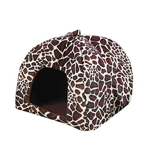 youjia-strawberry-bett-weicher-bett-haus-warm-pet-nest-hund-katze-hundehohle-klappbar-leopard-2xl
