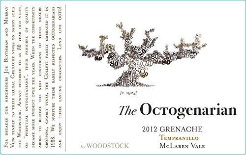2012 Woodstock Wines The Octogenarian Grenache Tempranillo 750 Ml