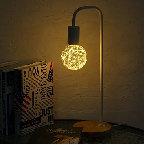 KINGSO G95 Vintage Edison Bulb,E27 Base 3W 300LM Antique Filament Globe Spiral Design LED Lights for Christmas Home Party Cafes Bars Decoration Warm White 6