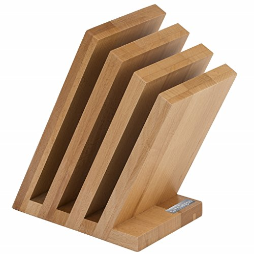 Artelegno Magnetic Knife Block Solid Beech Wood 4 Panel, Luxurious Italian Venezia Collection by Master Craftsmen Displays Most 9-Piece High-End