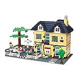 Juguetes Bloques de Construido Puzzle 3D Casa Villa Bricolaje Niños