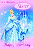 Disney Princess Sister Birthday Card