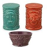 Disney's Enchanted Tiki Room Adventureland Home Collection Salt and Pepper Shaker Set with Ceramic Bowl