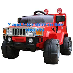 KID'S RIDE ON RECHARGEABLE HUMMER STYLE RED JEEP WITH PARENTAL REMOTE CONTROL