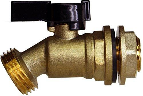 RAINPAL RBS005 Brass Water Container/Rain Barrel Spigot w/Build-in Bulkhead Fitting(Lead Free Compliant) (Rain Barrel Spigot compare prices)