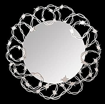 Mirror in Barbed Iron