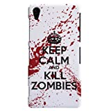Sony Xperia Z3 Case - Hard (PC) Cover with White / Red
