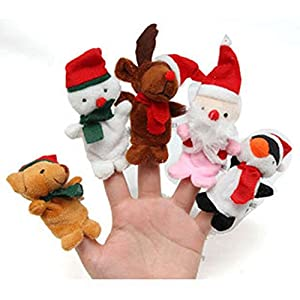 5PCS A SET Finger Puppet/Dolls/Toys Story-telling Props/Tools Toy Model Babies/Kids/Children Toys,Christmas series from Viskey