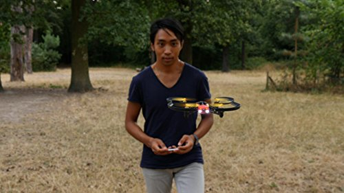 Student flying drone