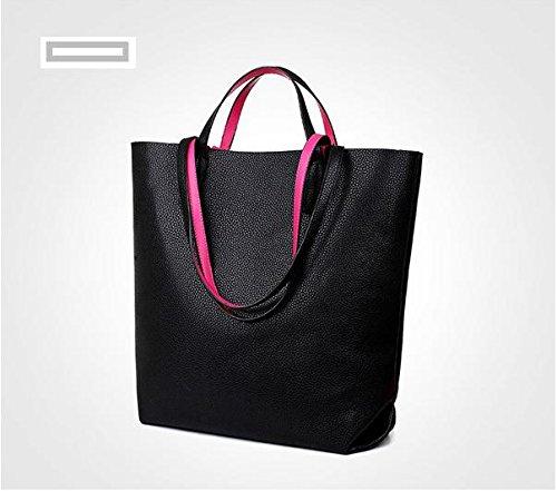 Da Wu Jia donna borsetta 2 piece SET onorevoli baodan borsa a tracolla borsetta , nero