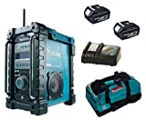 MAKITA 18V LXT BMR101 BMR101Z BMR101RFE JOB SITE RADIO WITH DAB, 2 x BL1830 BATTERIES, DC18RC CHARGER AND LXT400 BAG - PF TRADE