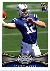 2012 Topps Football Card #140 Andrew Luck Rookie Indianapolis Colts by 2012 Topps