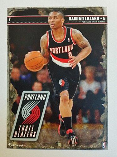 2013-2014 NBA Damian Lillard Portland TrailBlazers Mini Fathead + Mini Pennant