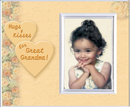 Hugs And Kisses for Great Grandma - Picture Frame Gift - 1