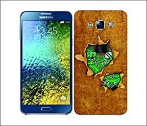 Galaxy Printed 2687 Ripped Aged Hard Cover for Samsung A7
