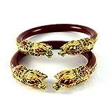 vidhya kangan antiqe bangles color maroon size- 2.4