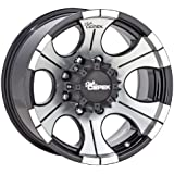 "Dick Cepek DC-2 Gloss Black Wheel with Machined Finish (18x9""/6x135mm)"