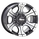 "Dick Cepek DC-2 Gloss Black Wheel with Machined Finish (18x9""/6x5.5"")"