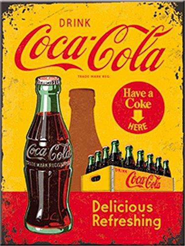 Coca Cola Yellow Crate steel fridge magnet (na)