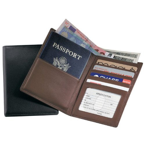 05. Royce Leather RFID – blocking Passport & Currency Wallet