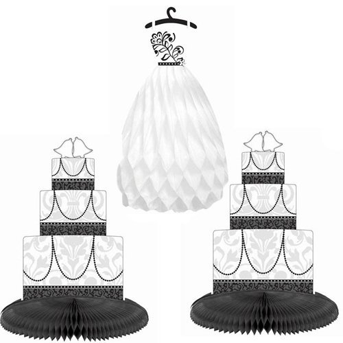 Honeycomb Dress & Cake Centerpiece - Black