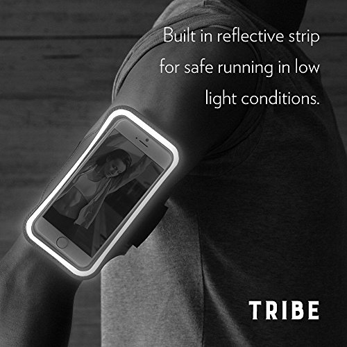 Tribe-AB40-Water-Resistant-Sports-Armband-with-Key-Holder-for-47-Inch-iPhone-6S655S5C-Galaxy-S4-Screen-Protector-Dark-Pink