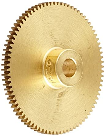 Boston Gear Spur Gear, 14.5 Pressure Angle, Brass, Inch, 48 Pitch