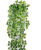 【SCGEHA】フェイクグリーン インテリア イミテーション 人工 観葉植物 壁掛け 緑 癒し 3種類 (Bタイプ/1本)