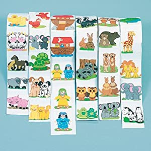 Noah's Ark Stickers 600 Assorted