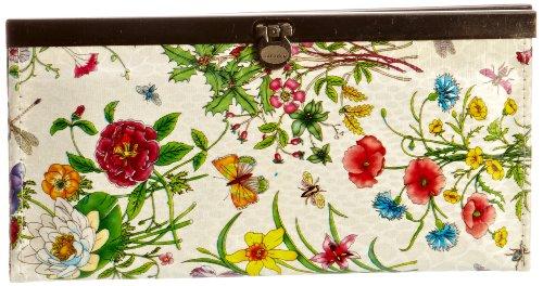 Swankyswans Women's Vintage Floral Print Wallet In White 3U-5Z8F-PJ25 Small