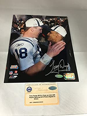 Tony Dungy Signed Autographed Indianapolis Colts 8x10 Photo Steiner Sports COA & Hologram