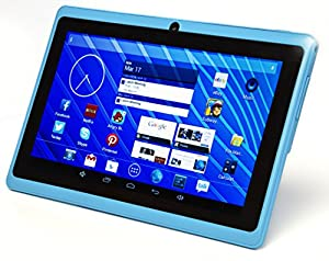 "DeerBrook 7"" Dual Core 1.5GHz Android 4.4 Tablet with Dual Camera, Bluetooth, A23 Processor, Wifi (Sky Blue)"