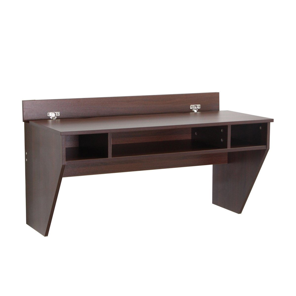 u max wall mounted computer desk work station brown. Black Bedroom Furniture Sets. Home Design Ideas