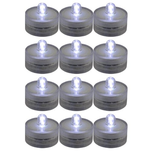 Generic Lots 12X Waterproof Flameless Wedding Party Xmas Tea Multicolor Light Led Candle White