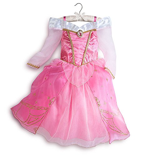 Disney Store Aurora Sleeping Beauty Costume Dress Halloween Size M Medium 7 - 8