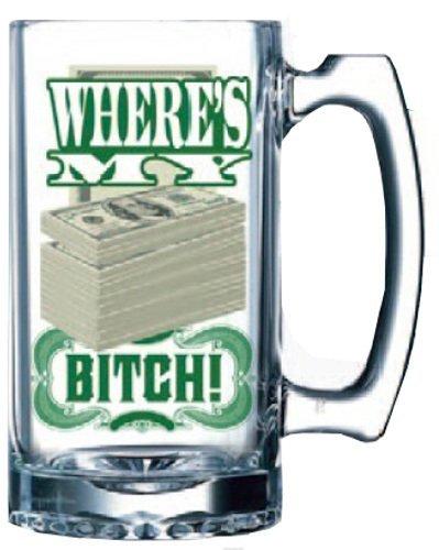 Basta Funky Llc Breaking Bad Dove sono i miei soldi Cagna Beer Mug Just Funky Llc Breaking Bad Where'S My Money Bitch Beer Mug
