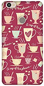 The Racoon Lean Pink Cup of Tea hard plastic printed back case / cover for Letv Le 1s
