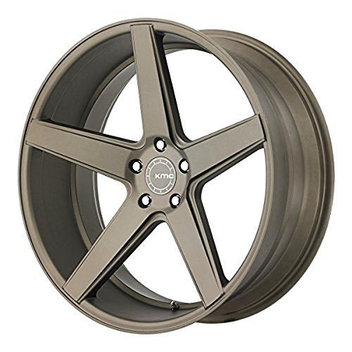 One KMC Matte Bronze KM685 District Wheel/Rim - 18x8 - 5x114.3 - +38mm (2009 Mustang Rims compare prices)