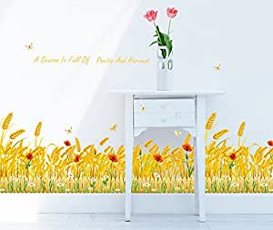ufengke goldenen weizenfeld wandsticker wohnzimmer. Black Bedroom Furniture Sets. Home Design Ideas