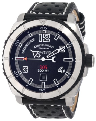 Armand Nicolet Men's 9610A-GR-P160NR4 S05 Sporty Automatic Stainless-Steel Watch