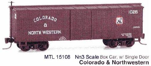 Micro Trains N 15108: 30' Box Car with Single Door, Colorado & Northwestern C&N #1028 (N Scale)