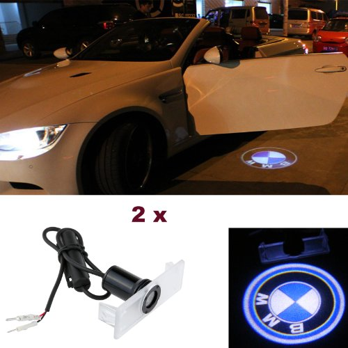 Lemonbest_ A Pair Of New 2*3W Welcome Lights Special Bmw Logo Courtesy Light Shadow Ghost Led Light Lamp Projector Door Light For Vehicle Bmw 12V