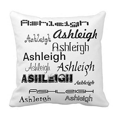 Cool Fonts Your Name Personalized Cotton Polyester Pillowcase Cushion Case Square 18
