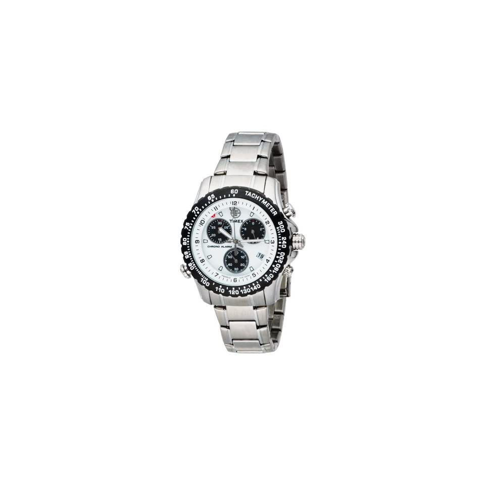 Chronograph Silver Tone Stainless Steel Bracelet Watch Timex Watches
