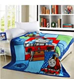 2014 Hot Sale Blue Thomas Train Blanket Coral Fleece Soft Blankets 200cmx230cm