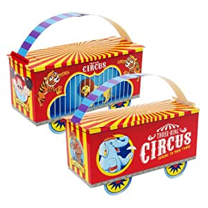 Amazon.com: Three-Ring Circus Empty Favor Boxes (4) Party