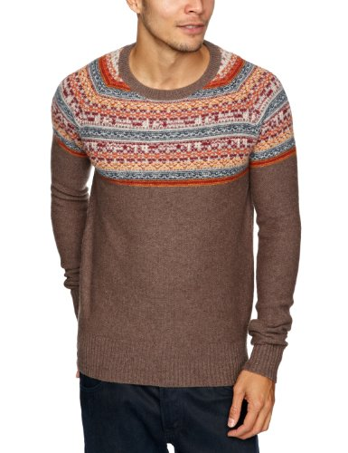 Tommy Hilfiger Sandiego Long Sleeve Men's Jumper Cocoa Heather X-Large