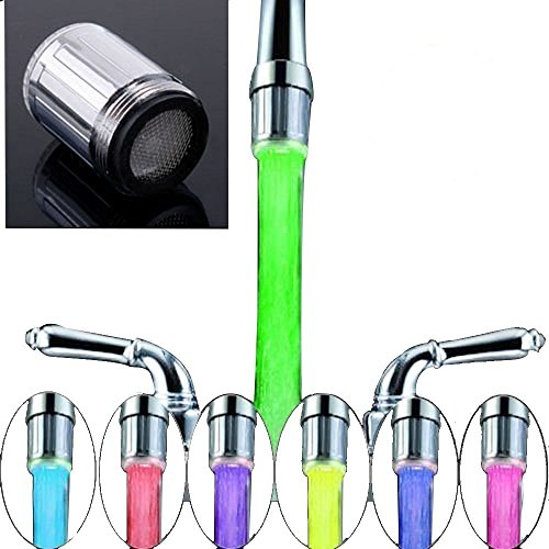 STOGA Led Water Faucet Stream Light 7 colors Changing for Bathroom and Kitchen (Water Faucet Led Light compare prices)