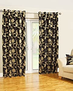 229 x 183 cm geneva curtains black and gold home kitchen